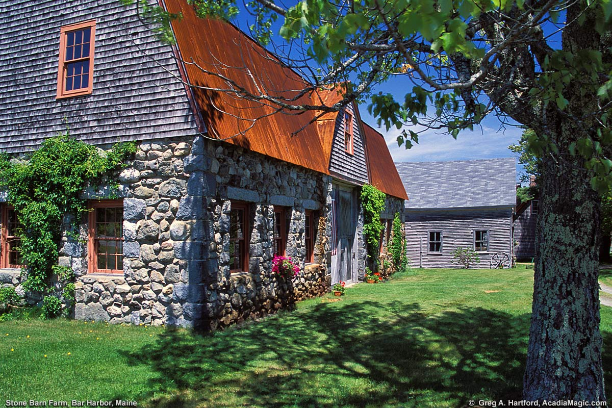 Bar harbor maine stone barn farm for Fish farms near me