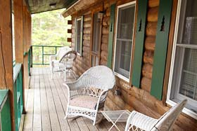 Front Porch at Acadia Conifer Ridge Cottage