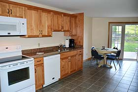 Kitchen and dining area of Long Barn Vacation Rental