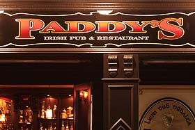 Paddy's - serving breakfast, lunch and dinner
