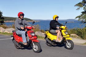 Scooters at Acadia Outfitters