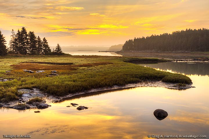 Twilight in Acadia National Park