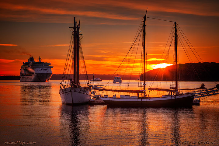 View of Sunrise in Bar Harbor, Maine