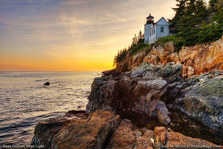 View the Bass Harbor Head Light in Acadia National Park.
