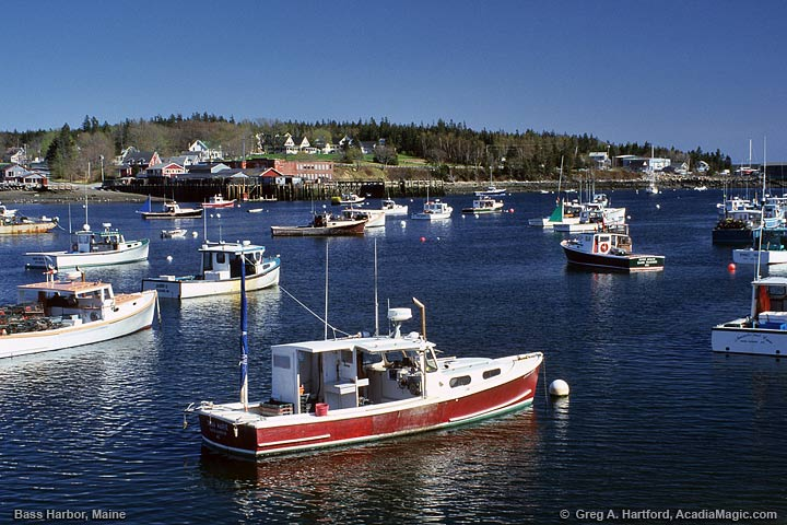 View large photo of Boats in Bass Harbor, Maine.