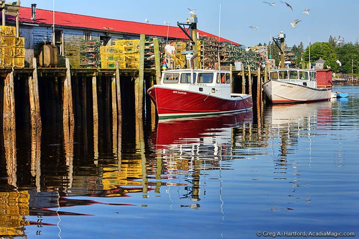 View this Maine lobster operation in Bass Harbor.