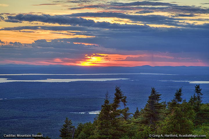 Sunset view from Cadillac Mountain
