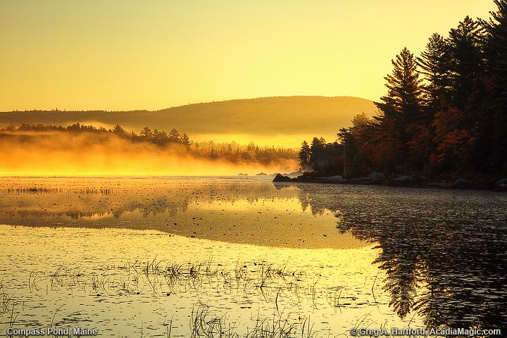 Sunrise on Compass Pond in Northern Maine