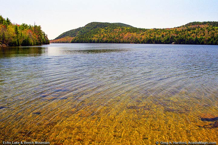 Echo Lake in Acadia National Park