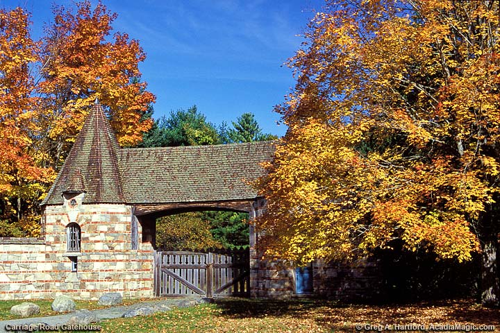 This is the Carriage Road gatehouse in Northeast Harbor