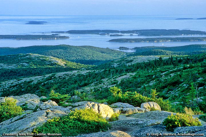 View of Cranberry Islands from Cadillac Mountain