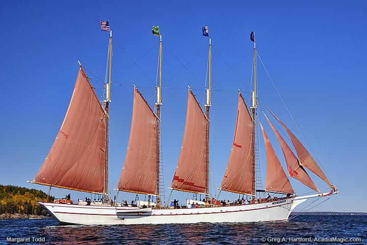 Margaret S. Todd Schooner in Bar Harbor, Maine