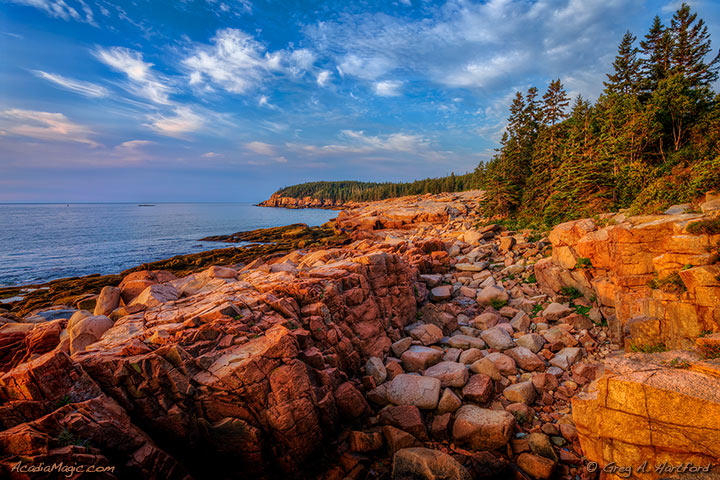 Eastern coast of Mount Desert Island in Acadia National Park, Maine