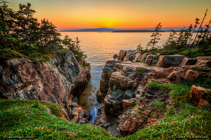Western View from Schoodic Peninsula in Acadia National Park