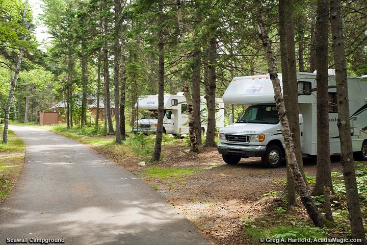 Seawall Campground RV Parking