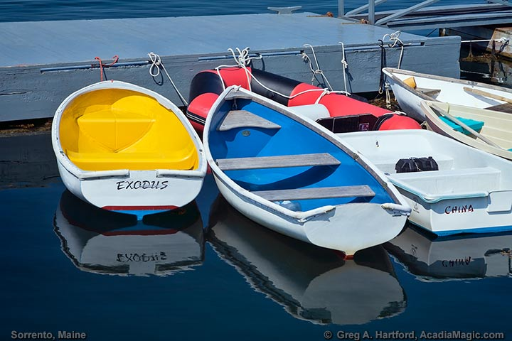 Dinghies at Sorrento Public Dock