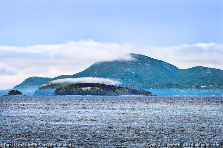 View of Bar Harbor & Champlain Mountain