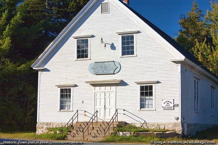 Historic Old Town House built in 1884 to be Gouldsboro Town Hall