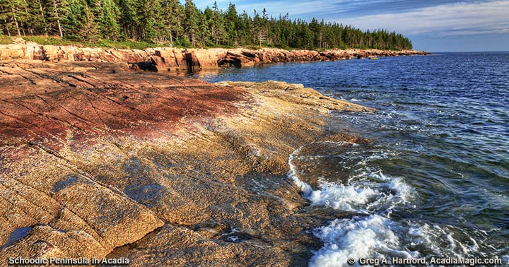 West coast of Acadia National Park at Schoodic Peninsula