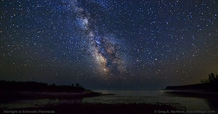 Starlight at Schoodic Peninsula in Acadia National Park