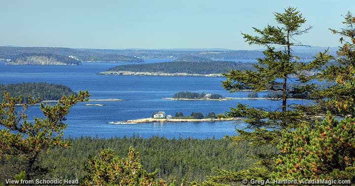 This photo shows Frenchman Bay from Schoodic Head