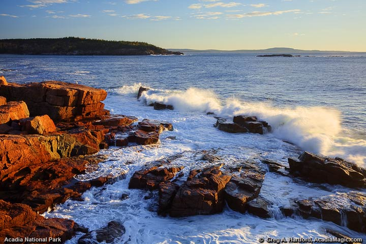 Pounding surf in Acadia