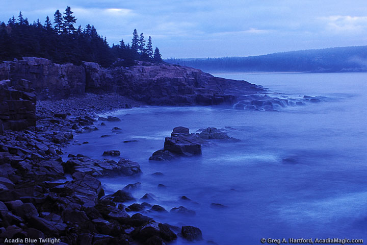 Acadia National Park before sunrise