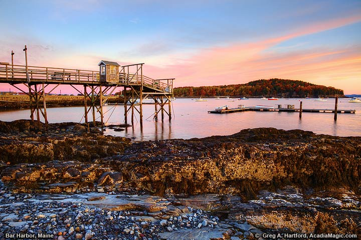 Low tide in Bar Harbor, Maine