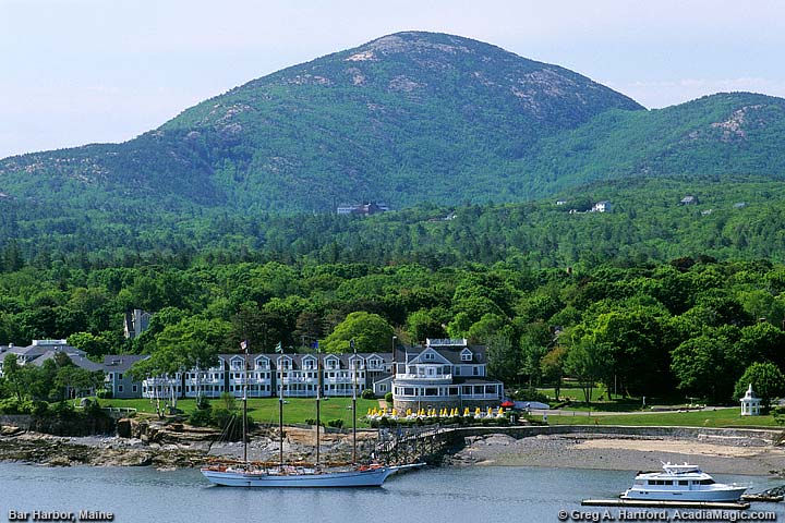 Champlain Mountain in Bar Harbor, Maine