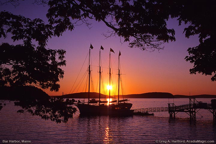 Schooner at sunrise