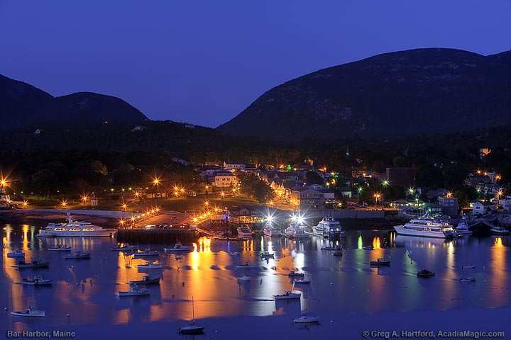 Bar Harbor at Twilight