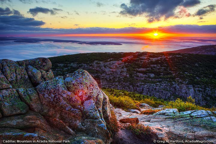 Another beautiful sunrise over Bar Harbor, Maine