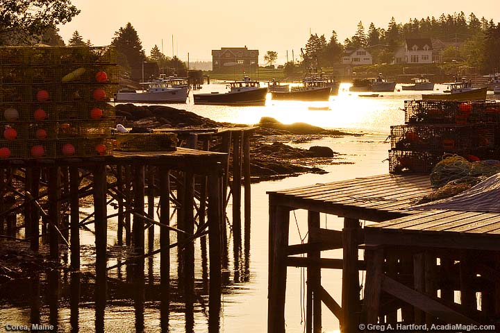 Classic fishing village of Corea in Gouldsboro, Maine
