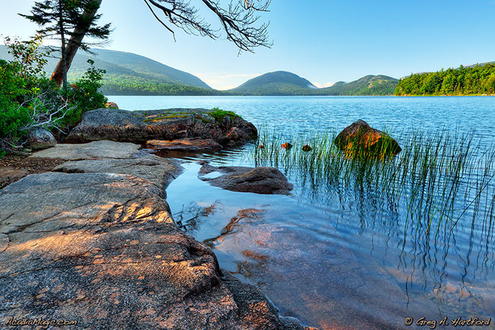 A view of Eagle Lake in Acadia National Park