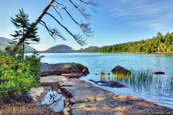 Eagle Lake in Acadia National Park in Bar Harbor