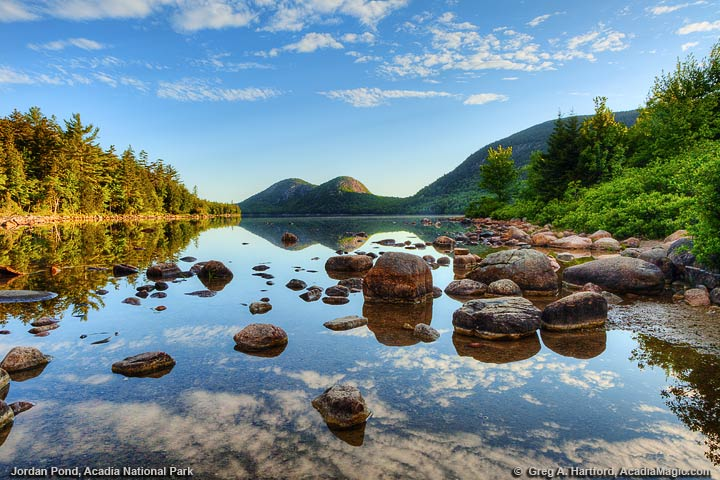 Jordan Pond and Bubble Mountains, Acadia National Park, Maine