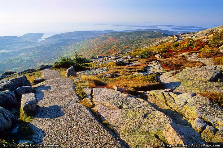 The Summit Path on Cadillac Mountain
