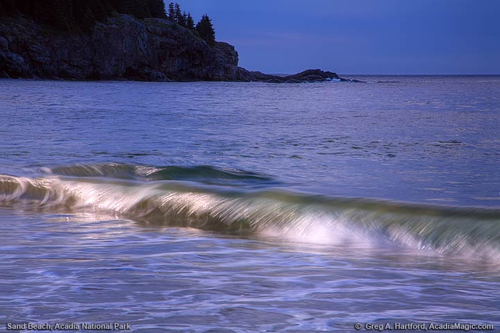 Wave at Sand Beach in Acadia National Park