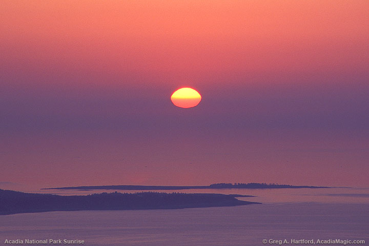 Sunrise over Schoodic Point