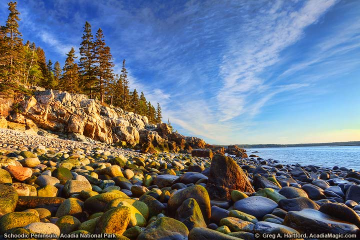 Schoodic Peninsula sunrise in Acadia National Park