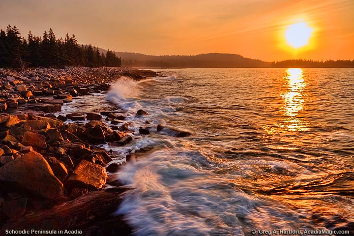 Sunrise on Schoodic Peninsula