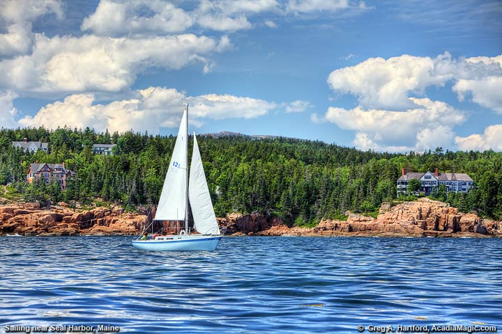 Sailing near Seal Harbor on Mount Desert Island
