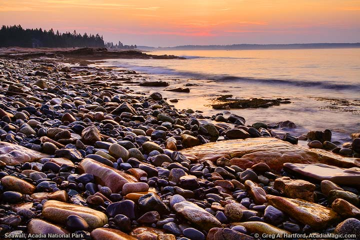Sunrise at Seawall in Acadia National Park, Maine