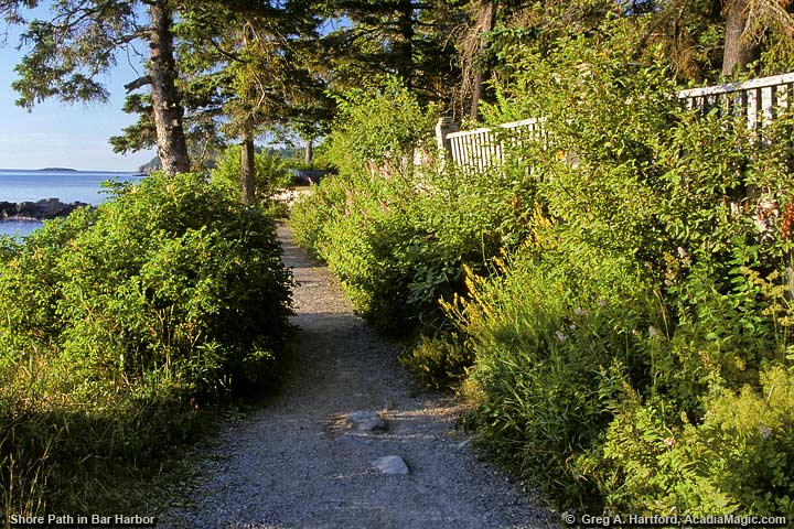 Shore Path on eastern side of Mount Desert Island