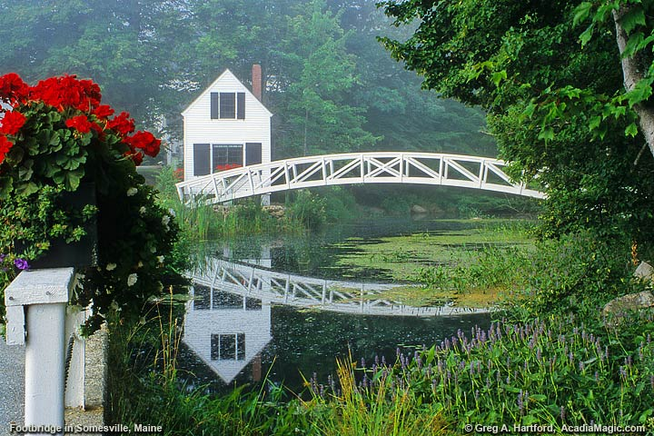 Somesville, Maine arched footbridge