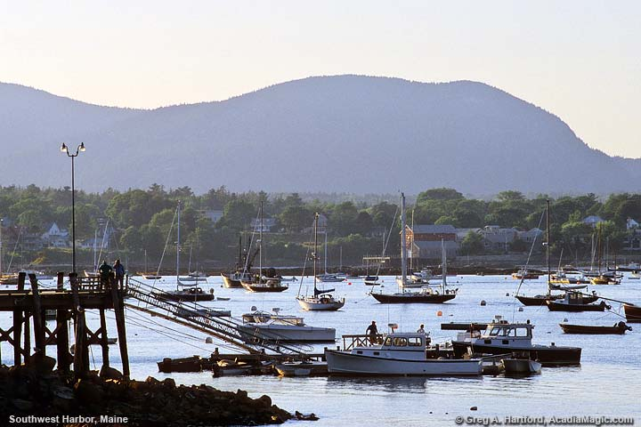 A late afternoon in Southwest Harbor, Maine