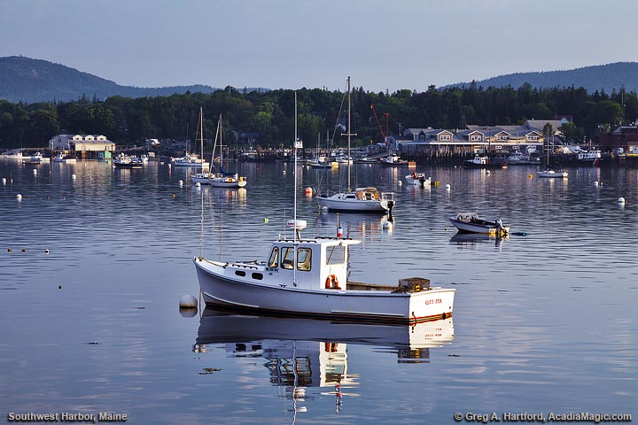 Lone Lobster Boat in Southwest Harbor