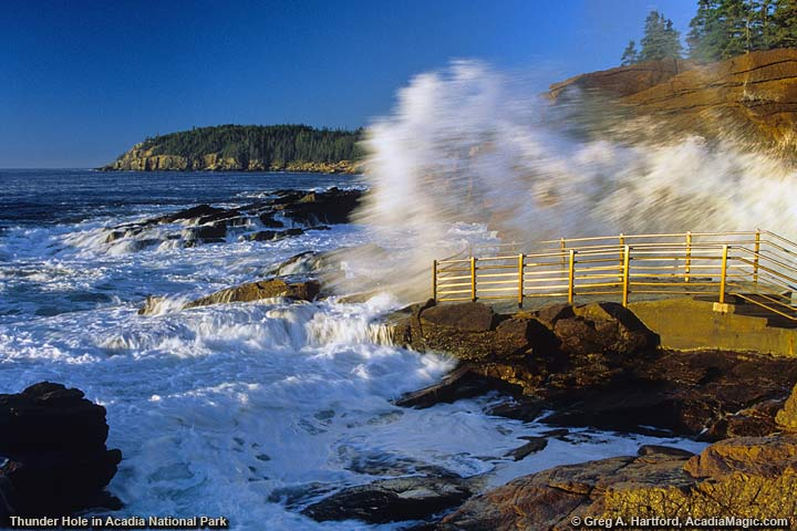 Thunder Hole in Acadia National Park, Maine