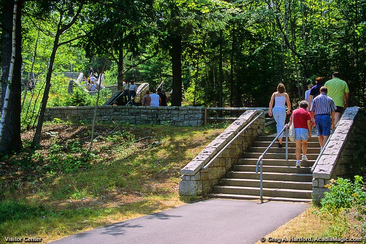 The 52 steps leading up to the Visitor Center