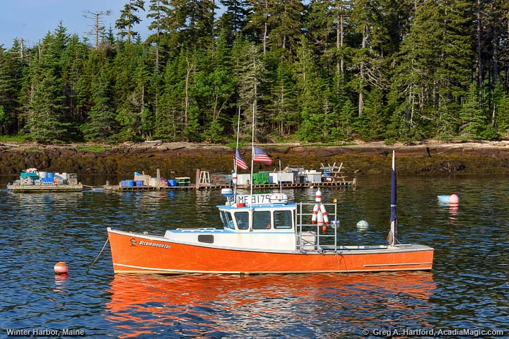 Maine lobster boat inWinter Harbor